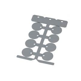 Eticheta rotunda 25 mm gri Partea superioara a cadrului ofera un loc de marcaj suplimentar pentru diverse proiecte Murrplastik