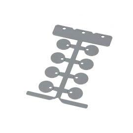 Eticheta rotunda diametru 20 mm gaura montaj 3 5 prindere coliere plastic policarbonat fara halogeni ignifug Rezistenta temperaturi -40 +130 grade celsius