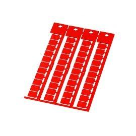 Eticheta universala suprafata de marcare imprimabila 9 x 11 mm culoare rosu RAL 2012 pt cabluri electrice conductoare fire tub
