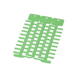 Eticheta verde 4 x 12 mm Etichetele se instaleaza in tile transparente dimensiunea 4 x 12 latime lungime cu montaj direct sau prindere cu coliere de plastic