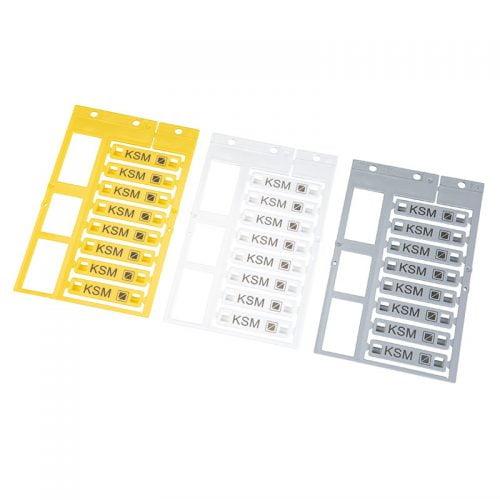 Etichete 45 x 10 mm pt identificarea cablurilor firelor tuburilor Culori etichete disponibile galben alb gri