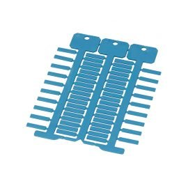 Etichete albastre 4 x 18 mm Identificare vizuala usoara cabluri electrice in instalatii masini aparate echipamente Diferite tipuri de instalare cu tile transparente