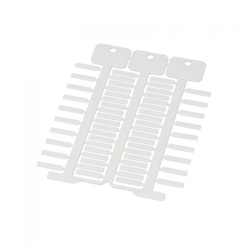 Etichete albe 4 x 18 mm instalatii electrice simple si complexe cabluri de forta semnal telecomunicatii etc Marcare cu diverse sisteme de imprimare