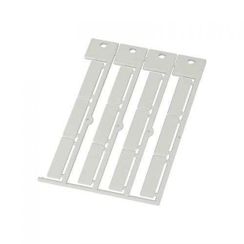 Etichete albe mari 35 x 9 mm Instalatii electrice marcare cabluri fire conductoare tuburi riflate furtnuri conducte