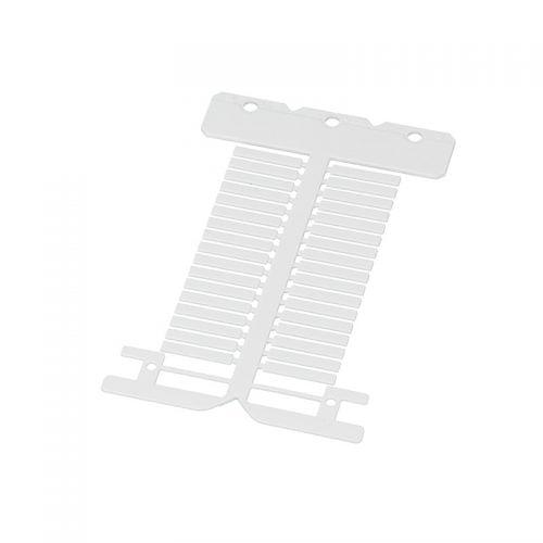 Etichete albe policarbonat fara halogen 4 x 23 mm Material ignifug ideal pt instalatii electrice si marcare cabluri fire conductoare