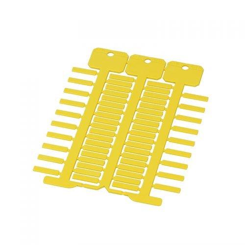 Etichete galbene 4 x 18 mm Suprafata lucioasa rezistenta mecanica ridicata stabiliate dimensionala si la temperaturi ridicate proprietati electrice si dielectrice deosebite