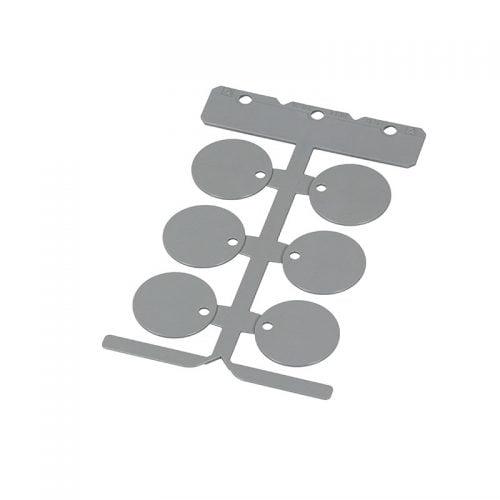 Etichete gri rotunzi 30 mm diametru Ideale pt orice tip de instalatie electrica marcare oriunde fabrici uzine aparate aparaturi industrie