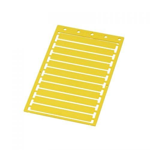 Etichete mari universale 9 x 70 mm culoare galben Suprafata de marcare mare Proprietati electrice si dielectrice Rezistenta la incendiu