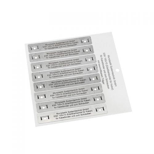 Etichete metalice gravate cu laser model prezentare achizitiona cumpara la preturi avantajoase online Cablul.ro