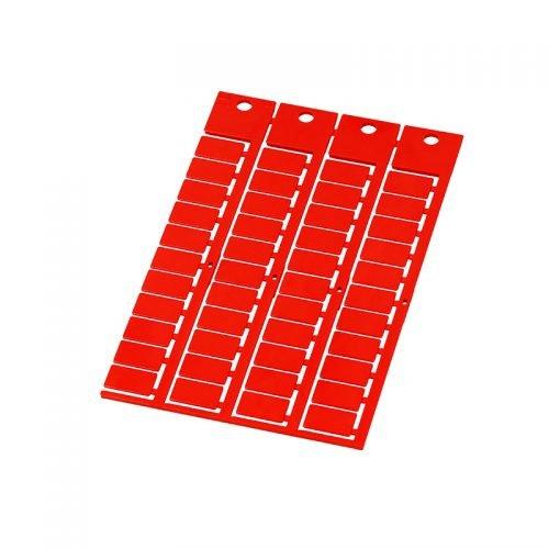 Etichete rosii 15 x 9 instalare in tile transparente pe cabluri electrice conductoare fire tuburi copex furtunuri etc