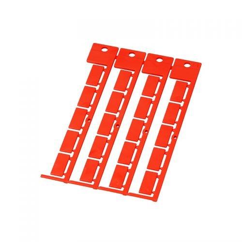 Etichete rosii 20 x 9 mm aplicatii industriale fabrici marcare si identificare cabluri electrice copex furtunuri tuburi