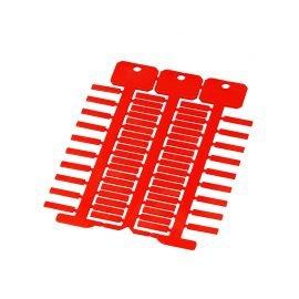 Etichete rosii 4 x 18 mm instalare pe cabluri electrice cu tile port etichete transparente Policarbonat calitate superioara