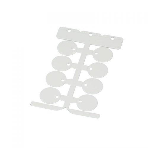 Etichete rotunde albe diametru 25 mm Marcarea conductoarelor cablurilor faciliteaza instalarea intreținerea ajuta la depanarea erorilor Murrplastik