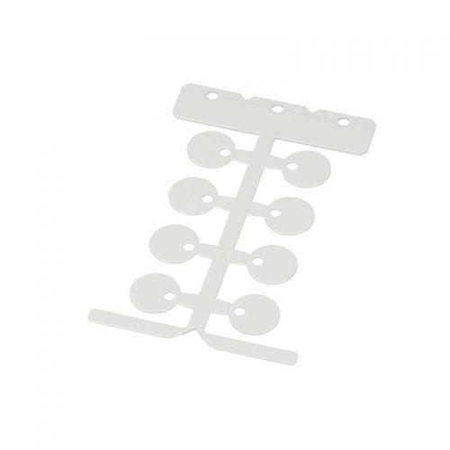 Etichete tip disc forma rotunda culoare alba diametru 20 mm instalare coliere bride panduiti fasete plastic
