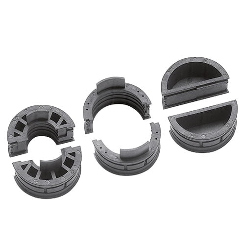 Insertii etansare prindere cabluri mari tuburi flexibile copex in cadru KDL Jumbo si insertie obturatoare plina ofera protectie trecerii nefolosite