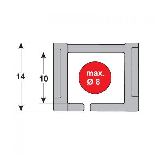 Interior lant portcablu dimensiuni interioare Ghidare in siguranta a cablurilor si conductorilor energetici