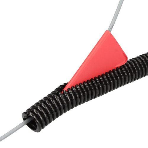 Introducere cabluri electrice in copex tuburi sectionate flexibile. Tub deschis cu fanta longitudinala pentru introdus cabluri ulterior