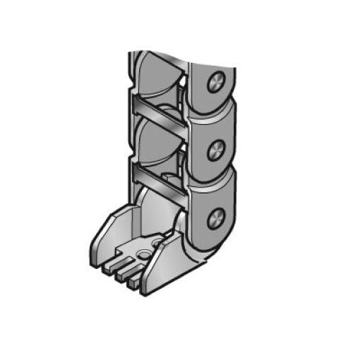 Kitul de prindere a capetelor lantului portcablu se poate instala in diverse unghiuri in functie de aplicatia in care este utilizat lantul portcablu