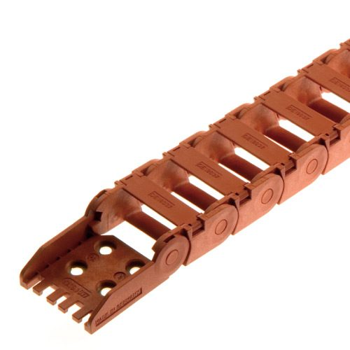 Lant portcablu rezistent la foc Ignifug culoare rosu Clasa de protectie la incedii V0 conform UL94 Calitate premium