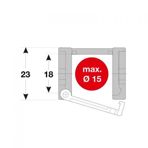 Lanturi portcablu inaltime 18 mm interior 23 mm exterior pentru conductori energetici de max 15 mm Cablurile electrice si furtunurile se introduc cu usurinta