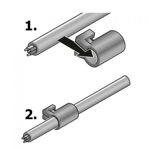 Montare cabluri electrice in garniturile de fixare necesare cadrelor intrare robuste KDL-D Rezulta o solutie etansa grad protectie IP65 Protejeaza instalatiile electrice