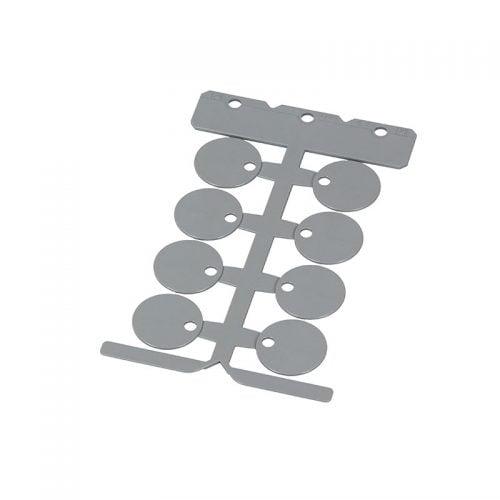 Placa gri de identificare rotunda 25 mm fara halogen material PC de inalta calitate pt marcarea etichetarea ulterioara a cablurilor electrice firelor conductelor