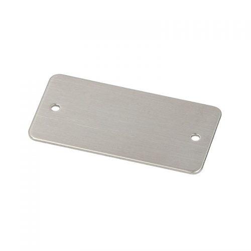 Placa identificare inox 52x26 mm Placuta metalica otel inoxidabil V4A Fixare montaj pop nituri suruburi Marcaje prin gravura mecanica sau laser Murrplastik