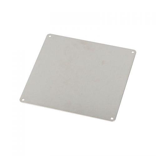 Placa metalica mare de identificare 139x139 mm Placuta patrata recunoastere utilaje placute aparete echipamente materiale numere coduri litere imagini texte