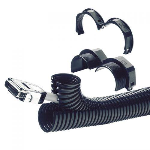 Prezentare sistem complet divizibil Tub copex riflat split din doua bucati Conectori fitinguri tuburi divizibili si contrapiulite divizibile Ideale retrofit montare ulterioara instalatii electrice