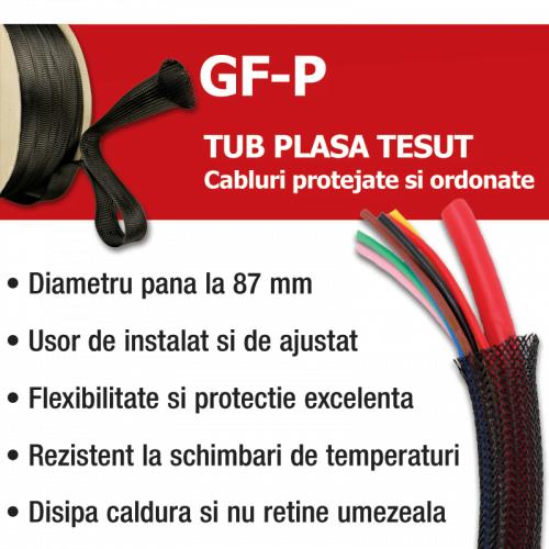 Prezentare tub tip plasa tresa tesuta impletita pt organizarea si protectia cablurilor si firelor impotriva abraziunilor umezelii si caldurii Rezistenta chimica si mecanica