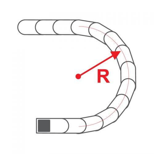 Raza de curbura a lanturilor portcablu Murrplastik Raza lant energetic port cablu ghidaj cabluri fire conductori