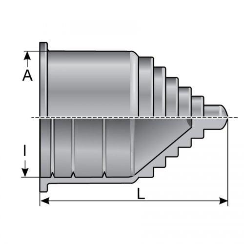 Schita desen tehnica capat trecere Deschiderea duzelor variabila in functie de sectiunea cablurilor firelor conductorilor electrici introdusi