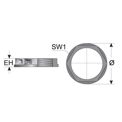 Schita tehnica contrapiulita divizibila diametru inaltime montaj montaj Descarca fisa tehnica pt mai multe detalii