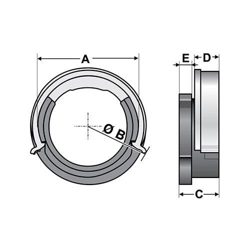 Schita tehnica suporti prindere tuburi flexibil protectie riflate copex co-flex split dublu in panouri tablouri electrice Instalare rapida click fara scule