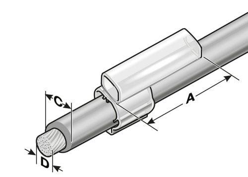 Suport transparent se poate inclipsa pentru post-echiparea instalatiilor etichetarea ulterioara dupa ce cablurile firele conductoarele au fost instalate