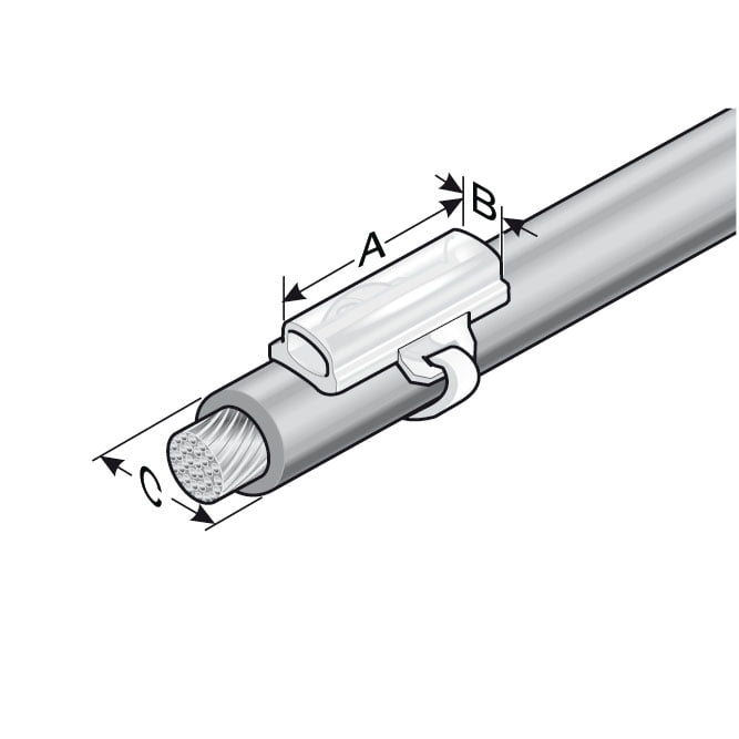 Suport transparente montaj universal cu coliere pe cabluri copex furtunuri hidraulice pneumatice tuburi flexibile conducte fire conductori electrici senzori valve masini