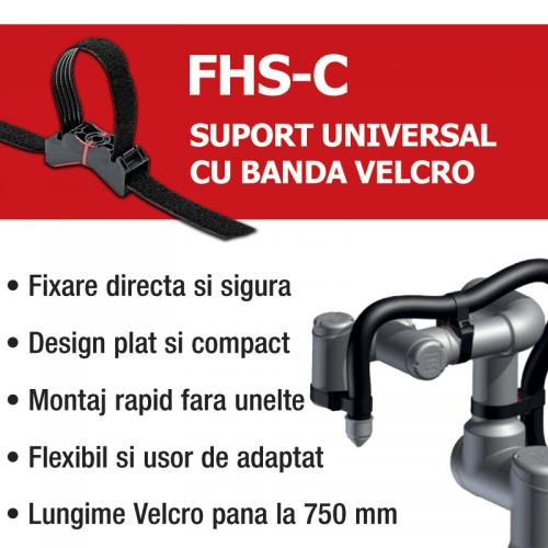 Suport universal de prindere cu banda velcro Fixare sigura suprafete conice Fara margini ascutite Lungime adaptabila variabila flexibila