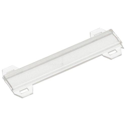Tila 70 x 9 mm transparenta Suport etichete mari montaj cu coliere de plastic pe pompe conducte valve masinarii cabluri Marcare de-a lungul cablului tubului pe o linie sau mai multe
