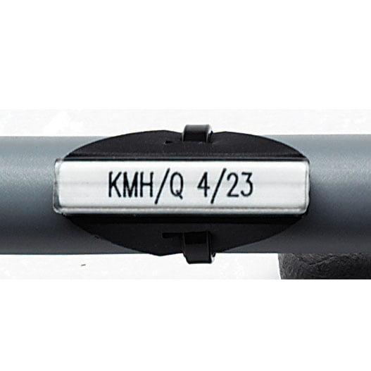 Tila compacta fara halogen 23 mm exemplu produs montat pe cablu cu colier de plastic high density halogen free
