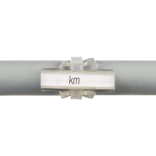 Tile transparente montaj cu coliere de plastic direct pe cablu fir conductor electric Protejeaza marcajele etichetelor din instalatii de umezeala murdarie si distrugere
