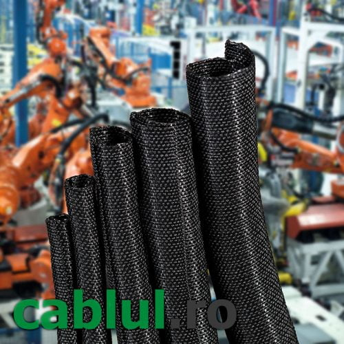 Trese-plasa-tesuta-impletita-cabluri-auto-infasurare-disipare-caldura-rezistenta-mecanica-protectie-impotriva-abraziunii-cablaje-industria-electrica-roboti-GF-P-LS-cablul