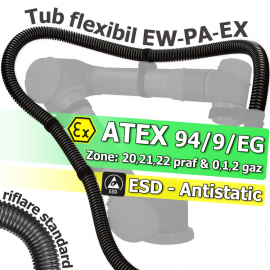 Tuburi ATEX zone gaz si praf, ESD antistatice