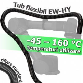Tuburi riflate elastice rezistente la temperaturi