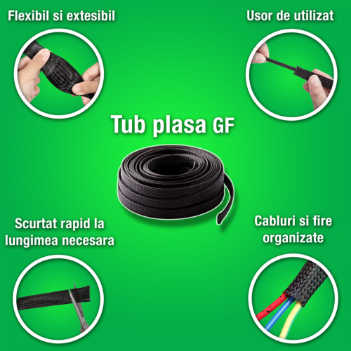 Tuburi protectie impletite protejeaza cabluri impotriva abraziunii Aplicatii universale Greutate mica Tesatura calitate germana GF Murrplastik
