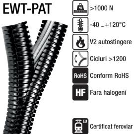 Tuburi resigilabile, ignifuge cu auto-stingere - EWT-PAB