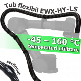 Tuburi TPE taiate longitudinal, elastice